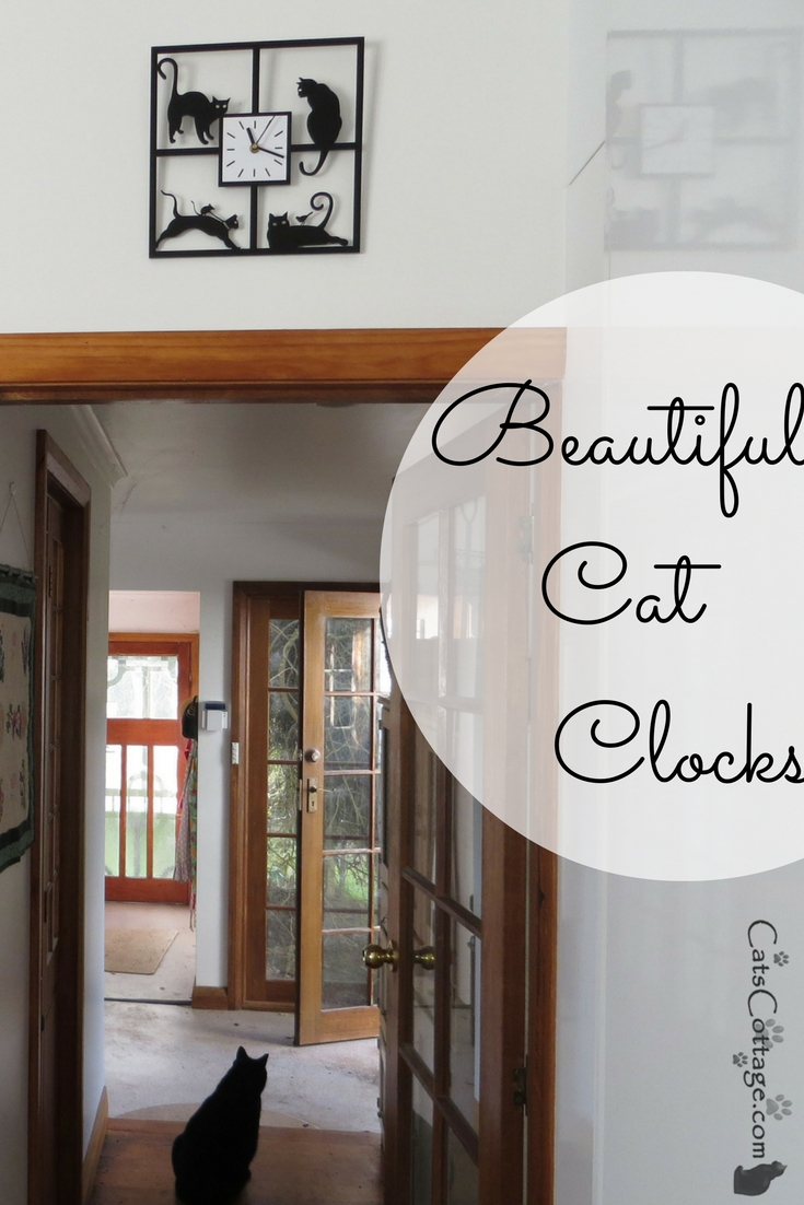 Beautiful cat clocks are a no-brainer gift for a cat lover!