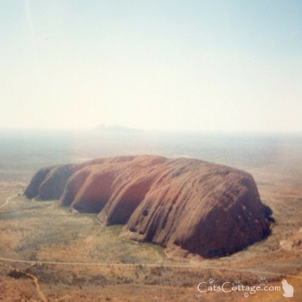 Ayers Rock, as it was known then, from the air.