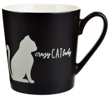 Black and White Crazy Cat Lady Coffee Mug
