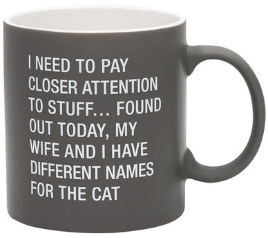 Different Names For The Cat Coffee Mug