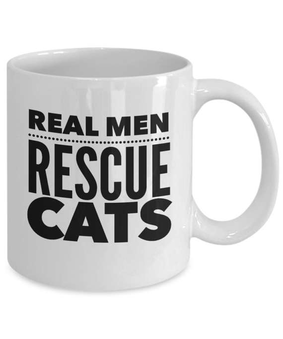 Real Men Rescue Cats Coffee Mug