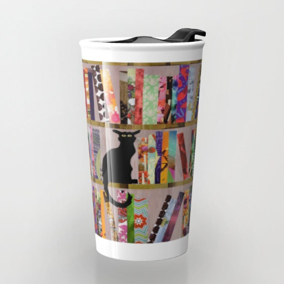 Library Cat Travel Mug