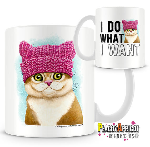 I Do What I Want Cat Mug Front and Back